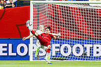 MONTREAL, CANADA, 30.06.2015 - EUA-ALEMANHA - Celia Sasic da Alemanha durante partida contra os Estados Unidos, válida pelas semi-finais da Copa do Mundo de Futebol Feminino, no Estádio Olímpico de Montreal, no Canadá, nesta sexta-feira, 30. (Foto: William Volcov/Brazil Photo Press)