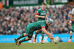 Jordan Crane of Leicester Tigers grabs the loose ball - Aviva Premiership - Leicester Tigers vs Sale Sharks - Season 2014/15 - 28th February 2015 - Photo Malcolm Couzens/Sportimage