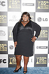 US actress Gabourey Sidibe arrives at the 25th Independent Spirit Awards held at the Nokia Theater in Los Angeles on March 5, 2010. The Independent Spirit Awards is a celebration honoring films made by filmmakers who embody independence and originality..Photo by Nina Prommer/Milestone Photo
