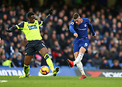 2nd February 2019, Stamford Bridge, London, England; EPL Premier League football, Chelsea versus Huddersfield Town; Ross Barkley of Chelsea taking a shot past Terence Kongolo of Huddersfield Town