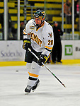 7 February 2009: University of Vermont Catamount defenseman Dan Lawson, a Sophomore from Oak Forest, IL, warms up to face the Providence College Friars in the second game of a weekend series at Gutterson Fieldhouse in Burlington, Vermont. The Catamounts swept the 2-game series notching 4-1 wins in both games. Mandatory Photo Credit: Ed Wolfstein Photo