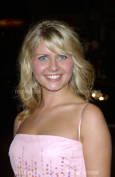 Actress/singer JESSICA BOEHRS at the Los Angeles premiere of her new movie EuroTrip..February 17, 2004