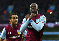 Albert Adomah of Aston Villa' celebrates scoring Aston Villa's goal<br /> <br /> Photographer Leila Coker/CameraSport<br /> <br /> The EFL Sky Bet Championship - Aston Villa v Wolverhampton Wanderers - Saturday 10th March 2018 - Villa Park - Birmingham<br /> <br /> World Copyright &copy; 2018 CameraSport. All rights reserved. 43 Linden Ave. Countesthorpe. Leicester. England. LE8 5PG - Tel: +44 (0) 116 277 4147 - admin@camerasport.com - www.camerasport.com