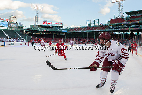Nick Roberto (BU - 15), Shane Bear (UMass - 24) - The Boston University Terriers defeated the University of Massachusetts Minutemen 5-3 on Sunday, January 8, 2017, at Fenway Park in Boston, Massachusetts.The Boston University Terriers defeated the University of Massachusetts Minutemen 5-3 on Sunday, January 8, 2017, at Fenway Park.