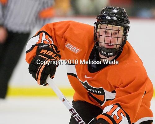 Matt Godlewski (Princeton - 15) - The Princeton University Tigers defeated the Harvard University Crimson 2-1 on Friday, January 29, 2010, at Bright Hockey Center in Cambridge, Massachusetts.