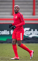 Yannis N'Gakoutou-Yapende of AS Monaco FC Youth pre match during the UEFA Youth League round of 16 match between Tottenham Hotspur U19 and Monaco at Tottenham Hotspur Training Ground, Hotspur Way, England on 21 February 2018. Photo by Andy Rowland.