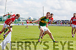 Donnchadh Walsh Kerry in action against Ian Maguire Cork in the National Football league in Austin Stack Park, Tralee on Sunday.