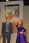 """Michael Rhodes, Steven Austin Young, Colleen Zenk - As The World Turns - stars in Looped - about Taleh Bankhead - original premiere - at Stageworks/Hudson Theater Outside The Box on July 14, 2013 running until July 28 - also stars Michael Rhodes and Steve Austin Young. """"All he needed was one line . . . All Tallulah needed was eight hours . . .""""  (Photo by Sue Coflin/Max Photos)"""