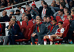 Arsenal's Alexis Sanchez looks on dejected from the bench during the premier league match at the Emirates Stadium, London. Picture date 25th September 2017. Picture credit should read: David Klein/Sportimage