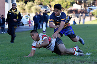 College Rugby - Rongotai College v Scots College at Rongotai College, Wellington, New Zealand on Saturday 2 June 2018.<br /> Photo by Masanori Udagawa. <br /> www.photowellington.photoshelter.com