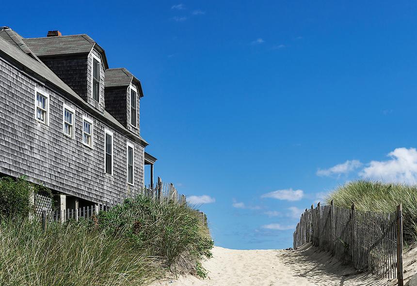 Beach house, Ballston Beach, Truro, Cape Cod, Massachusetts, USA