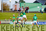 Paud Costello Ballyduff in action against Jeremy McKenna Lixnaw in the Senior County Hurling Final in Austin Stack Park on Sunday