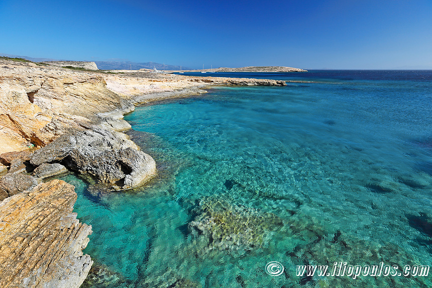 A beach of Koufonissi island in Cyclades, Greece