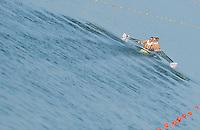 Brest, Belarus.  GBR M4X. Bow John COLLINS, Jonathan WALTON, Nicholas MIDDLETON and Jack HOCKLEY, at the start.  2010. FISA U23 Championships. Friday,  23/07/2010.  [Mandatory Credit Peter Spurrier/ Intersport Images]
