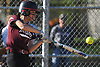 Kelsey Vandewater #12, Mepham shortstop, connects for a two-run triple in the bottom of the fifth inning to give Pirates a 12-0 win over Island Trees in a Nassau County Class A first round playoff game at Mepham High School on Friday, May 11, 2018.