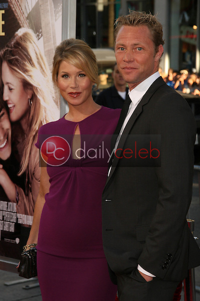 Christina Applegate and fiance Martyn LeNoble<br />