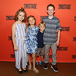 """Maren Heary, Casey Hilton, Harrison Fox and Ryan Foust during the Second Stage Theater's """"Make Believe"""" cast photo call at the Second Stage Theatre Theatre on July 23, 2019 in New York City."""