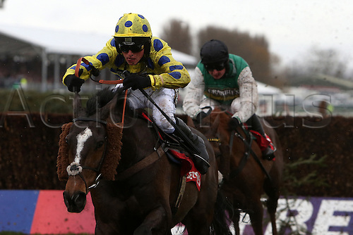 09.04.2016. Aintree, Liverpool, England. Crabbies Grand National Festival Day 3. Virak ridden by Harry Cobden in the Bet Fred Handicap Steeple Chase.