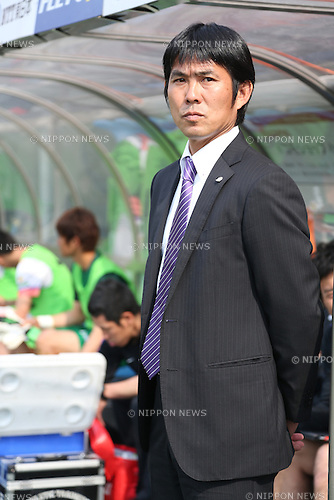 Hajime Moriyasu (Sanfrecce),.MAY 6, 2013 - Football / Soccer :.Sanfrecce Hiroshima head coach Hajime Moriyasu before the 2013 J.League Division 1 match between Omiya Ardija 2-1 Sanfrecce Hiroshima at NACK5 Stadium Omiya in Saitama, Japan. (Photo by Kenzaburo Matsuoka/AFLO)