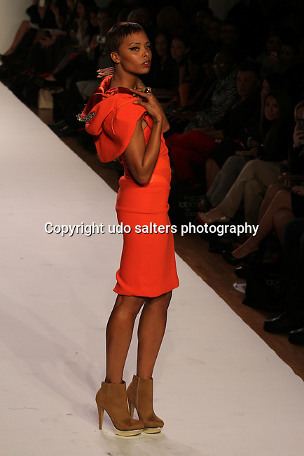Eva Marcille Walks in SACHIKA Presented by Vumee Fall/Winter 2012 collection<br /> Ivanka: If Ee ever Meet Again<br /> at Style360 New York Fashion week, D. Salters/WENN 2/14/11