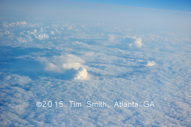 April 15, 2009  North Atlantic Ocean, Earth<br /> <br /> Clouds below indicate big weather, seen from 50,000'.