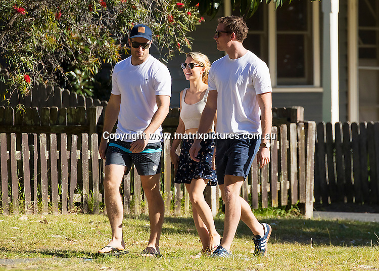 16 OCTOBER 2016 HUSKISSON AUSTRALIA<br /> WWW.MATRIXPICTURES.COM.AU<br /> <br /> EXCLUSIVE PICTURES<br /> <br /> Sam Frost pictured with her boyfriend Sasha Mielczarek enjoying a day of activities on the south coast. The loved up couple spent the morning soaking up the sun at the beach where it was obvious Sam couldn't keep her naughty hands off Sasha at one point dropping her hand down his pants. The pair later did some grocery shopping with Sam taking a ride on the the front of the trolley. Then it was time for Sam to head back to town and was sent off with a big hug from Sasha.