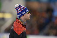 SCHAATSEN: HEERENVEEN: 15-12-2018, ISU World Cup, 500m Men Division A, Laurent Dubreuil (CAN), ©foto Martin de Jong