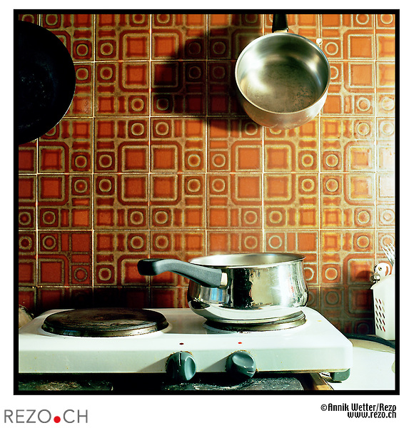 AW00007 / Illustration cuisine, appartement,immobilier...Geneve,juin 2004...©Annik Wetter/Rezo..