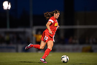 Western New York Flash defender Brittany Taylor (13). The Western New York Flash defeated Sky Blue FC 2-0 during a National Women's Soccer League (NWSL) semifinal match at Sahlen's Stadium in Rochester, NY, on August 24, 2013.