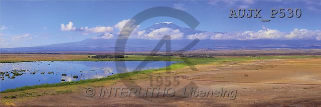 Dr. Xiong, LANDSCAPES, panoramic, photos, Kilimanjaro views, Amoseli NP, Kenya(AUJXP530,#L#)