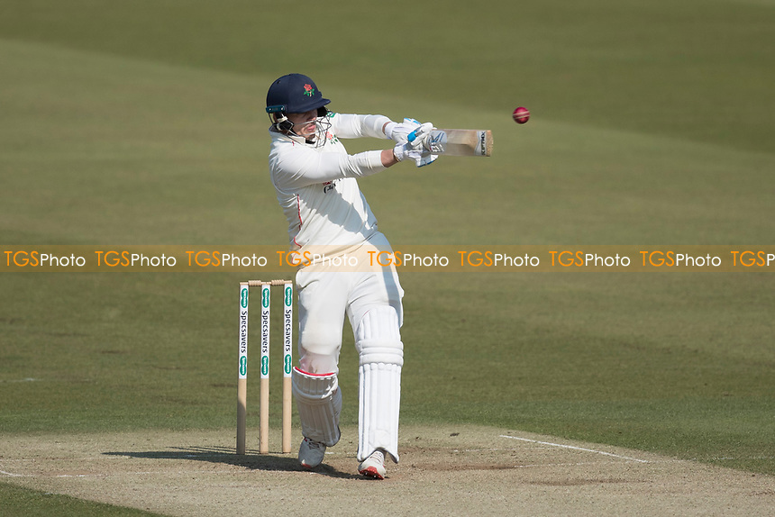 Rob Jones of Lancashire CCC pulls a short delivery from James Harris for four during Middlesex CCC vs Lancashire CCC, Specsavers County Championship Division 2 Cricket at Lord's Cricket Ground on 13th April 2019