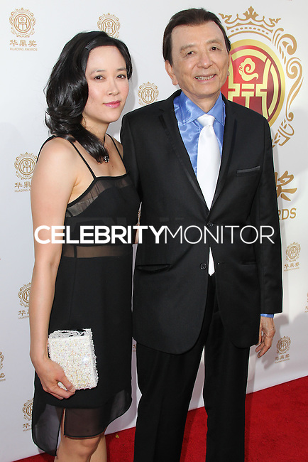 HOLLYWOOD, LOS ANGELES, CA, USA - JUNE 01: April Hong and James Hong arrive at the 12th Annual Huading Film Awards held at the Montalban Theatre on June 1, 2014 in Hollywood, Los Angeles, California, United States. (Photo by Xavier Collin/Celebrity Monitor)