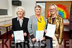 Marie Brennan, Carmen Diggins and Noreen Breen graduating in Art Design and Craft Ceramics from An Tochar Education Centre in Causeway on Monday.<br />  .