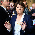 Lille's Martine Aubry at the first day of Expo Milano 2015, in Milan on May 1, 2015.