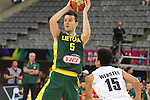07.09.2014. Barcelona, Spain. 2014 FIBA Basketball World Cup, round of 16. Picture show A. Juskevicius  in action during game between New Zealand   v  Lithuania at Palau St. Jordi