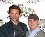 Bradley Cooper and Director Scott Ellis attends the 'The Elephant Man' Broadway Cast photo call at Sardi's on October 21, 2014 in New York City.