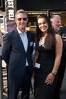 David Mayfield of Bygott Biggs shows off his Ray-Bans to Daniella Trifunovic of Gatley