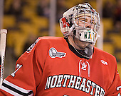 Clay Witt (Northeastern - 31) - The Boston College Eagles defeated the Northeastern University Huskies 7-1 in the opening round of the 2012 Beanpot on Monday, February 6, 2012, at TD Garden in Boston, Massachusetts.
