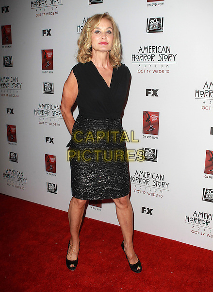 "Jessica Lange.Premiere Screening Of FX's ""American Horror Story: Asylum"" Held At The Paramount Theatre, Hollywood, California, USA..October 13th, 2012.full length black sleeveless top skirt sparkly  .CAP/ADM/KB.©Kevan Brooks/AdMedia/Capital Pictures."
