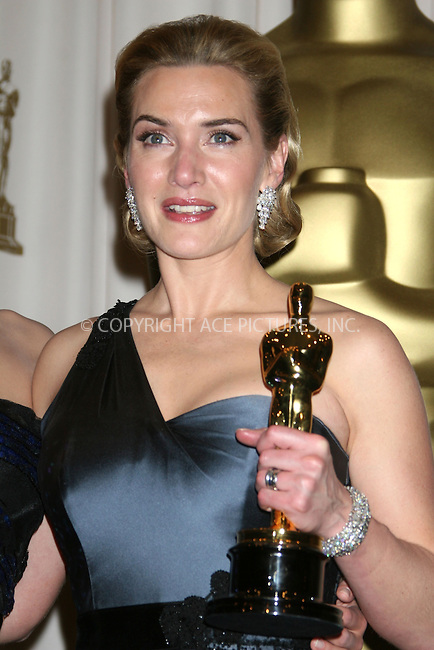WWW.ACEPIXS.COM . . . . .  ....February 22, 2009. Hollywood, CA....Actress Kate Winslet poses at the 81st Annual Academy Awards press room held at the Kodak Theater on February 22, 2009 in Hollywood, CA.......Please byline: Z09- ACEPIXS.COM.... *** ***..Ace Pictures, Inc:  ..Philip Vaughan (646) 769 0430..e-mail: info@acepixs.com..web: http://www.acepixs.com