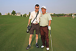 Damien McGrane with Golffile photographer Eoin Clarke out on course during Practice Day 1 of the Dubai World Championship, Earth Course, Jumeirah Golf Estates, Dubai, 23rd November 2010..(Picture Eoin Clarke/www.golffile.ie)