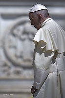 Pope Francis during of a weekly general audience at St Peter's square in Vatican.May 2, 2018