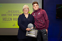 Pictured: Daniel James of Swansea City during the Swans Community Trust awards dinner at the liberty stadium in Swansea, Wales, UK <br /> Thursday 02 April 2019