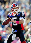 11 October 2009: Buffalo Bills' quarterback Trent Edwards looks to make a pass against the Cleveland Browns at Ralph Wilson Stadium in Orchard Park, New York. The Browns defeated the Bills 6-3 for Cleveland's first win of the season...Mandatory Photo Credit: Ed Wolfstein Photo