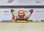 9 January 2016: Christopher Grotheer, competing for Germany, pushes off for his first, and only start of the BMW IBSF World Cup Skeleton race at the Olympic Sports Track in Lake Placid, New York, USA. Grotheer did not start his second run. Mandatory Credit: Ed Wolfstein Photo *** RAW (NEF) Image File Available ***