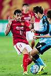 Guangzhou Forward Ricardo Goulart (L) in action against Kawasaki defender Kurumaya Shintaro (R) during the AFC Champions League 2017 Group G match between Guangzhou Evergrande FC (CHN) vs Kawasaki Frontale (JPN) at the Tianhe Stadium on 14 March 2017 in Guangzhou, China. Photo by Marcio Rodrigo Machado / Power Sport Images