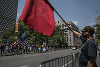 NEW YORK JUNE 10: Muslim supporter confront Trump supporters during an anti-sharia law rally organized by ACT for America on June 10, 2017 at Foley square in New York. Photo by VIEWpress/Maite H. Mateo.