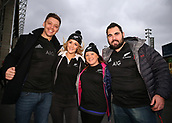 4th November 2017, Twickenham Stadium, Twickenham, England; Autumn International Rugby, Barbarians versus New Zealand; New Zealand fans posing outside Twickenham Stadium before kick off