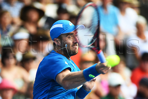 12.01.2017. ASB Tennis Centre, Auckland, New Zealand. ASB Classic Tennis, Day 13. Steve Johnson during the ASB Classic. Johnson won his match.