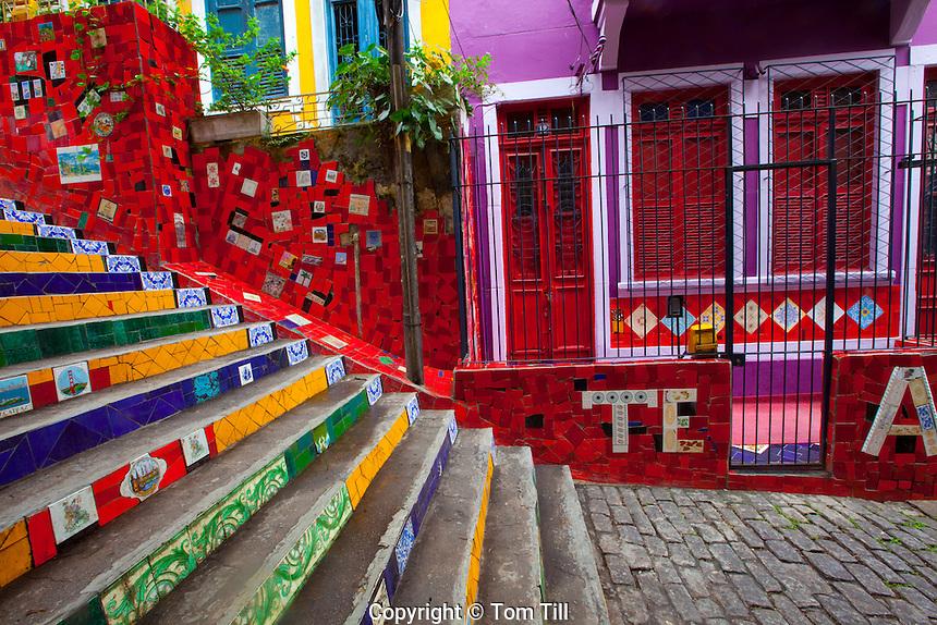 Saint Teresa Mosaic Stairs    Rio De Janiero, Brazil   Work of  artist Jorge Selaron